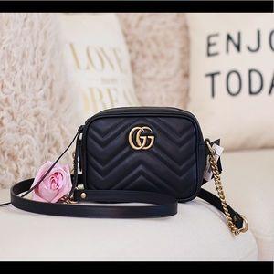 GG Marmont Mini Matelasse Camera Bag